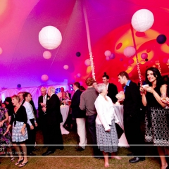 Wedding led uplighting at Tent 11