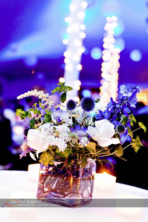 Wedding led uplighting at Tent 8