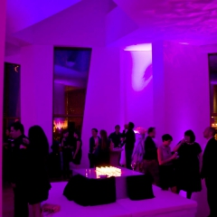 Wedding led uplighting at Weisman 4