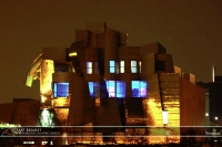 Wedding led uplighting at Weisman 5