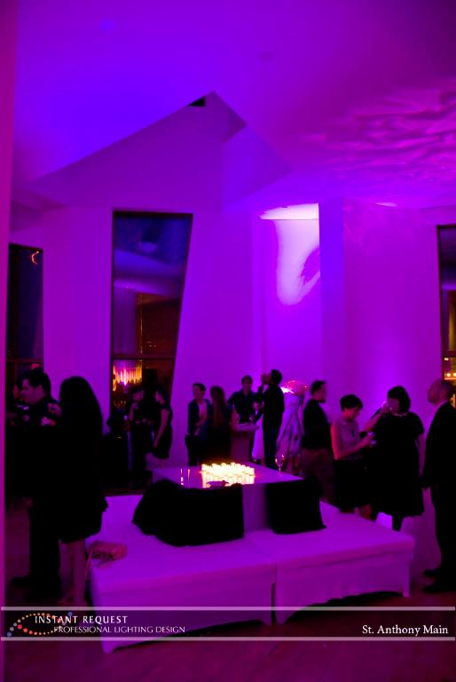 Wedding led uplighting at Weisman 4