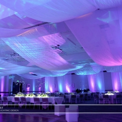 Wedding led uplighting at Westin 2