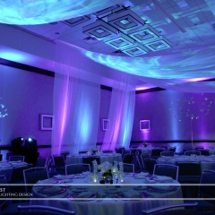 Wedding led uplighting at Westin 4