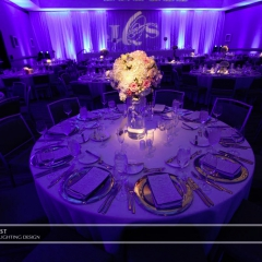 Wedding led uplighting at Westin 6