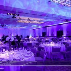Wedding led uplighting at Westin 8