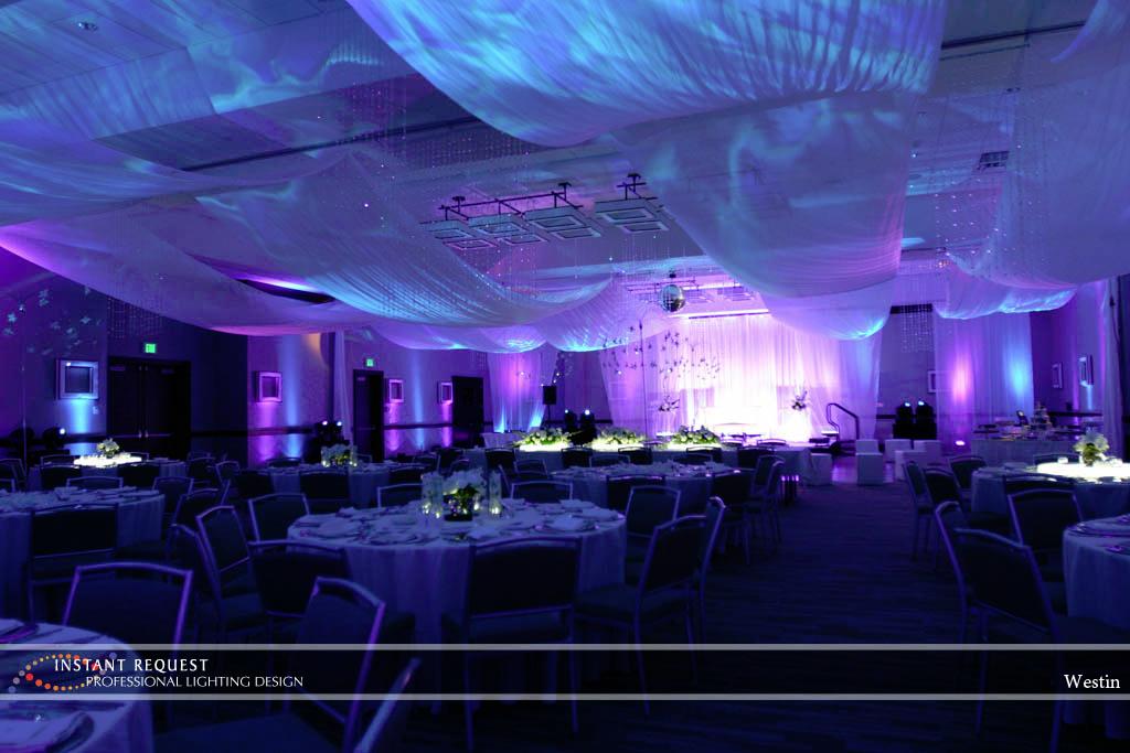 Wedding led uplighting at Westin 1
