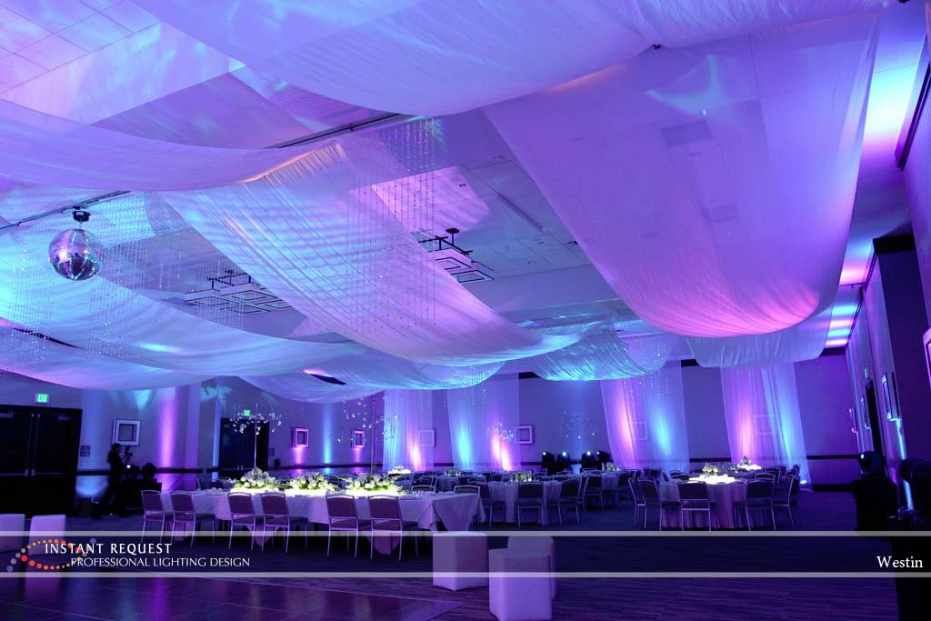 Wedding led uplighting at Westin 2