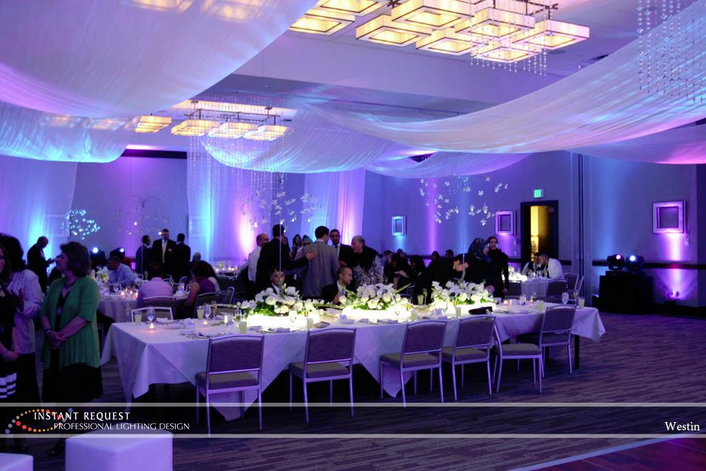 Wedding led uplighting at Westin 3