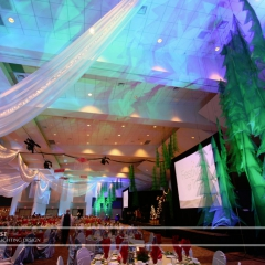 Wedding led uplighting at Xcel Energy Center 1