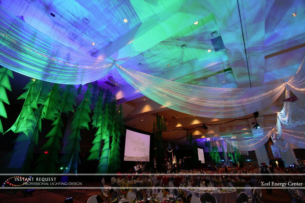 Wedding led uplighting at Xcel Energy Center 2