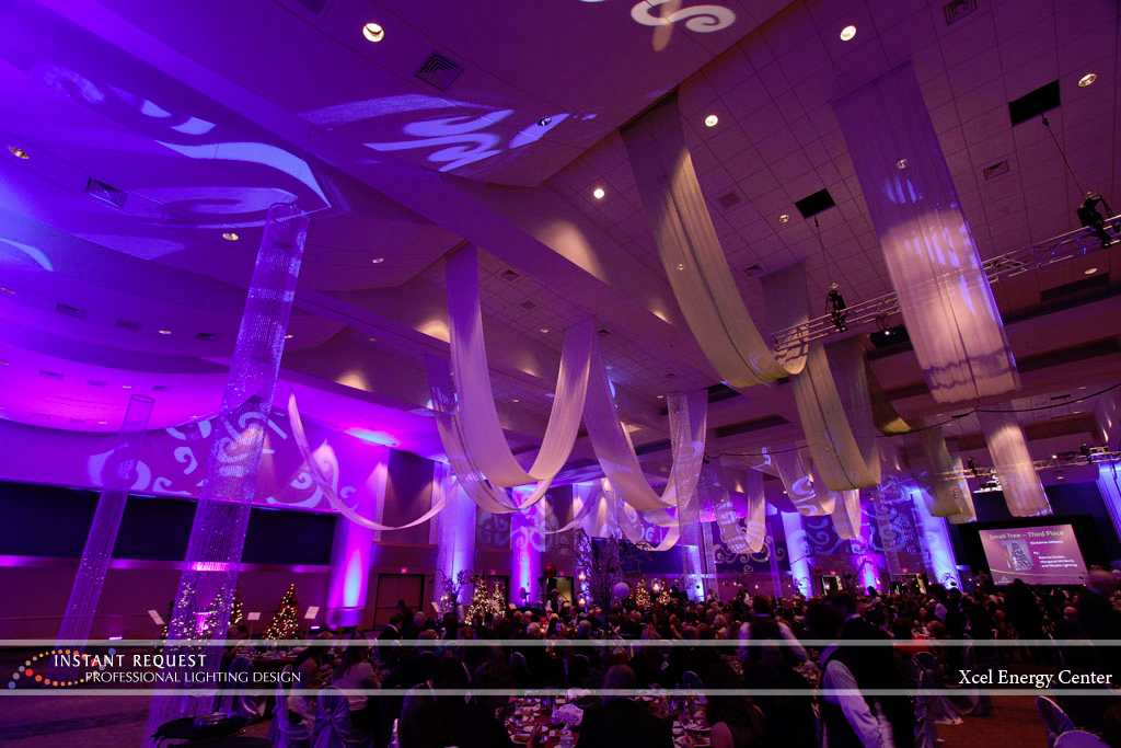 Wedding led uplighting at Xcel Energy Center 8
