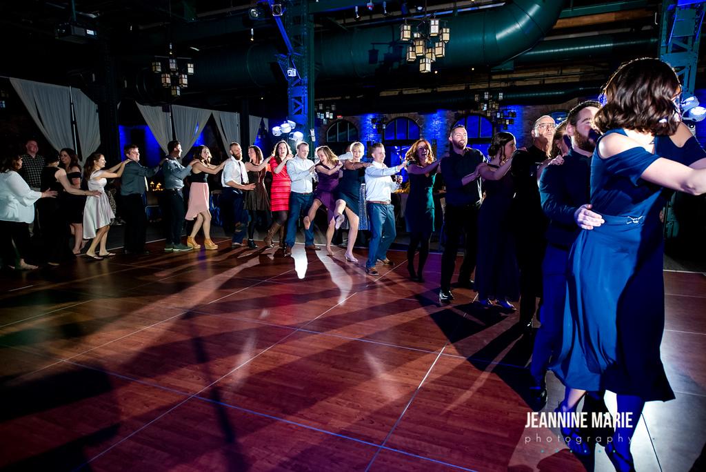 Conga Line Wedding Dance