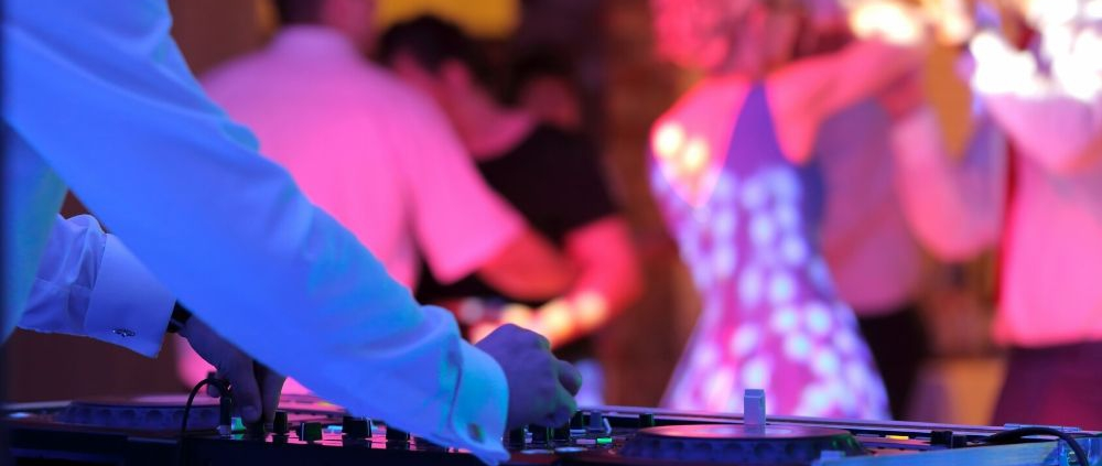 DJ Playing at a Wedding